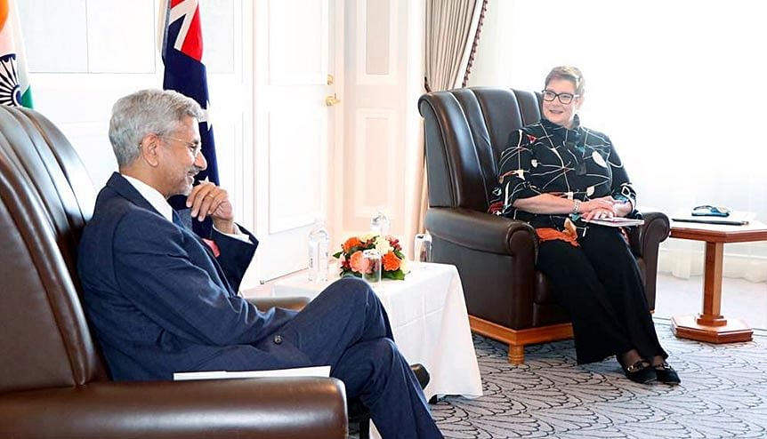 External Affairs Minister S Jaishankar meets Foreign Minister of Australia Marise Payne in Tokyo earlier in October 2020. The most important factor behind the strengthening of bilateral India-Australia relations has been the alignment of mutual perceptions on China.
