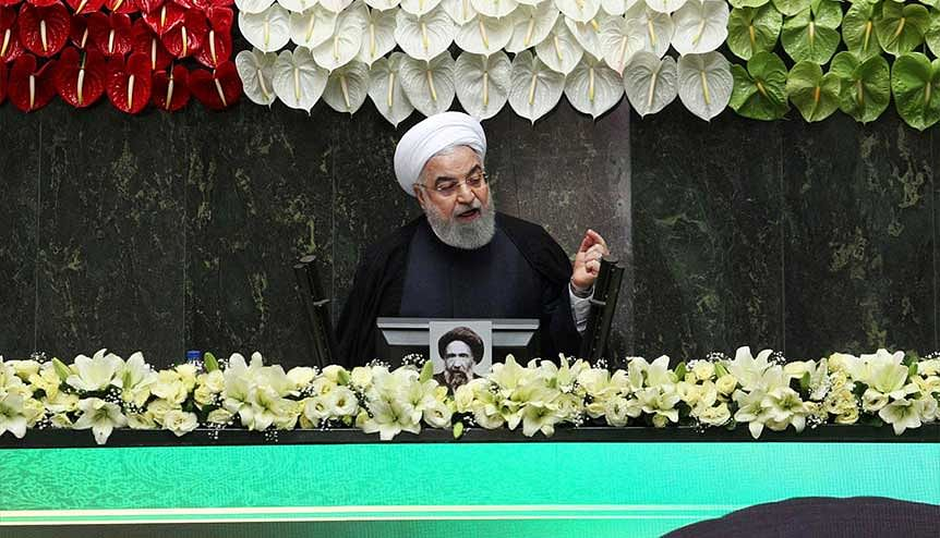 Iranian President Hassan Rouhani speaks during the opening ceremony of Iran′s 11th parliament.  If the Biden government returns to the N-deal with Irann then, India can expect to resume oil imports from the Islamic republic.