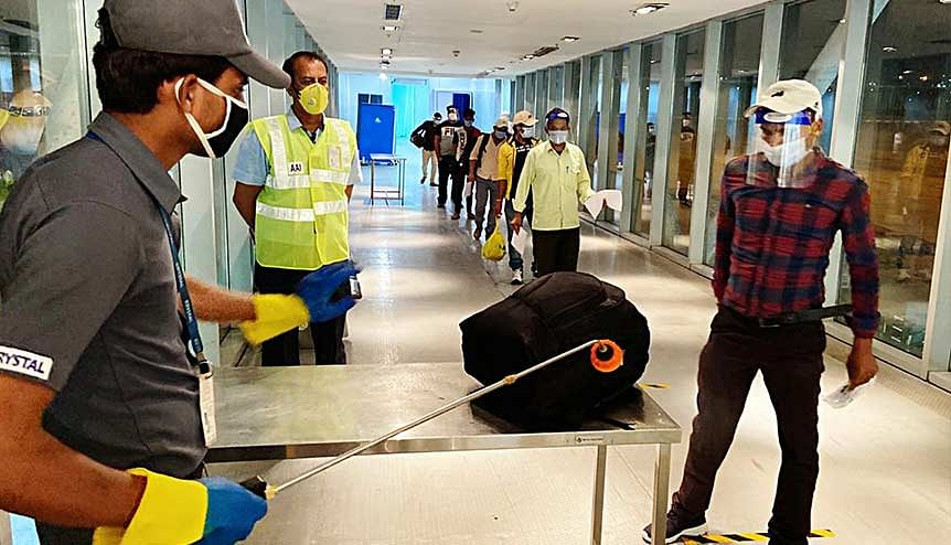 A special flight from Kuwait with 177 passengers' lands in India during the lockdown. Hundreds of Indian professionals are unable to return to work in Gulf countries. India has urged members of the GCC Troika to facilitate the return of these professionals through sustainable travel bubble arrangements.