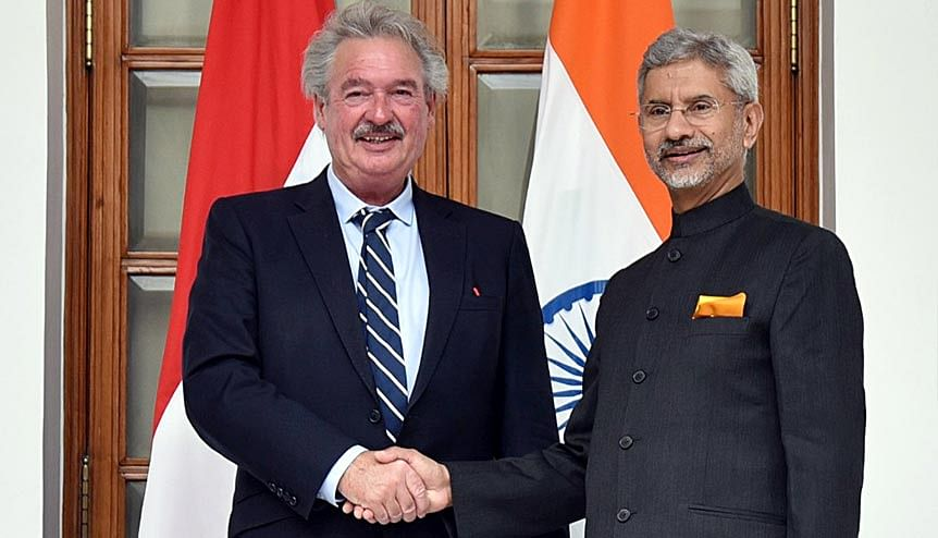 Minister of External Affairs of India Subrahmanyam Jaishankar meets Minister of Foreign and European Affairs of Luxembourg Jean Asselborn. The two nations have been actively signing bilateral treaties with a promise for more to come in future.