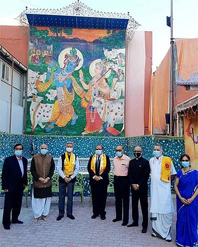 Dr S. Jaishankar offered prayers at the 200-year-old Shreenathji Temple in Manama during his visit to the state. The two countries are keen on facilitating collaborations on multiple issues of interest and cashing in on links which are centuries old.