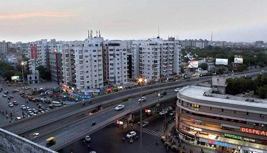 A view of Ahmedabad city. Many executives are carrying their big city paycheques and lifestyles with them to smaller towns, thus, generating new demand for goods and services in centres that had been considered too small to service earlier.