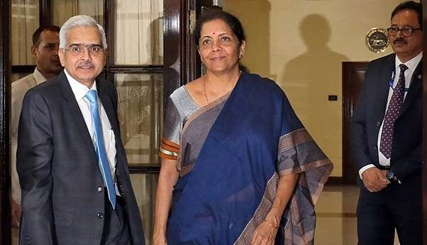 Indian Finance Minister Nirmala Sitharaman with Reserve Bank of India (RBI) Governor Shaktikanta Das. Though DBS will get a 51 per cent stake in LVB, it is expected that the RBI will direct it to reduce its stake to 15 per cent in phases as per existing laws.