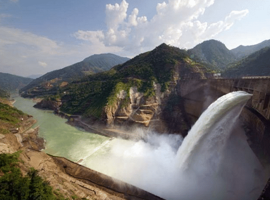 """India is planning to grow its dam infrastructure in the Northeast. To incentivise hydro projects, a """"renewable energy status"""" was given to large-scale projects in 2019."""