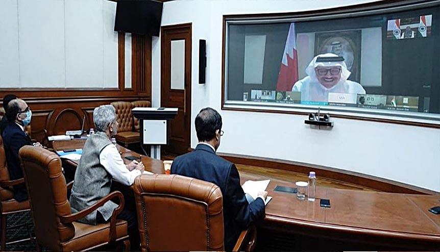 External Affairs Minister S Jaishankar interacts with UAE Minister of State for Foreign Affairs Dr. Anwar Gargash, FM Dr Abdullatif bin Rashid Al Zayani of Bahrain, GCC Secretary General Dr. Nayef Falah Mubarak Al-Hajraf and senior representatives of Kuwait, Saudi Arabia & Qatar. The GCC states emphasized the need for India to underscore their value in multiple platforms.