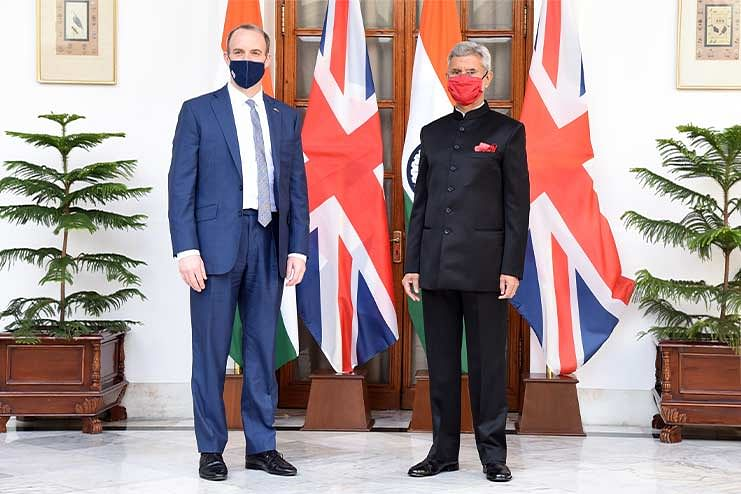 Raab signalled his ambition for a closer UK-India relationship as part of a wider UK focus on partnerships in the Indo-Pacific.