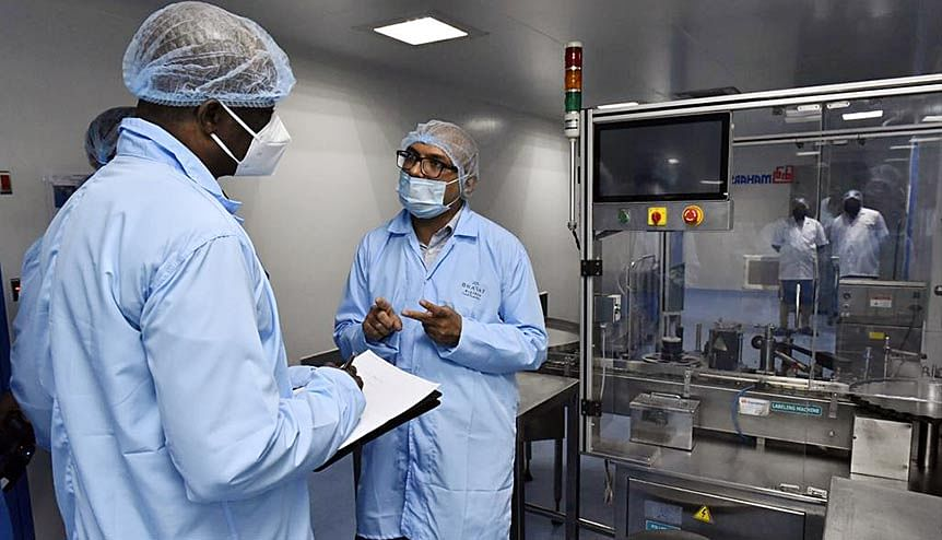 Foreign envoys take a tour of Bharat Biotech facility where the COVID-19 Vaccine, Covaxin is being developed in Hyderabad. India's vaccine diplomacy in contrast to the hoarding of vaccines by many developed countries has made it is leading the global fight against this invisible but deadly enemy.