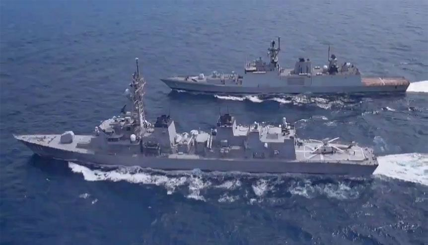 Indian Navy, United States Navy, Japan Maritime Self Defence Force, & Royal Australian Navy are participating in 24th Malabar naval exercise. The safety and freedom of navigation within the Indo Pacific is one of the core sentiments the two countries share.