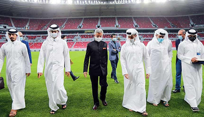 Indian foreign affairs minister Dr. S Jaishankar reviewed one of the FIFA World Cup venues which had been constructed by Indian firm Larsen & Toubro. Indian expatriates in Qatar have been a key component of Qatar's rapid economic progress.