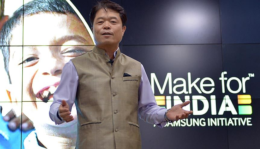 President and CEO, Samsung, Southwest Asia HC Hong before flagging off the Mobile Service Vans as part of expansion of the customer service network to villages. As many as 22 companies have invested in India in response to the government's $6.6-billion PLI scheme.