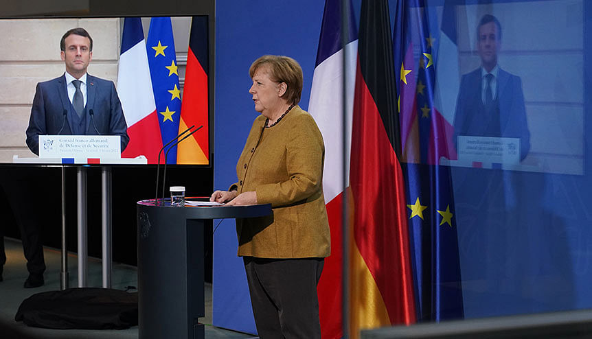 Both Merkel and Macron have expressed their openness to using vaccines from Moscow if EU regulatory approval is granted.