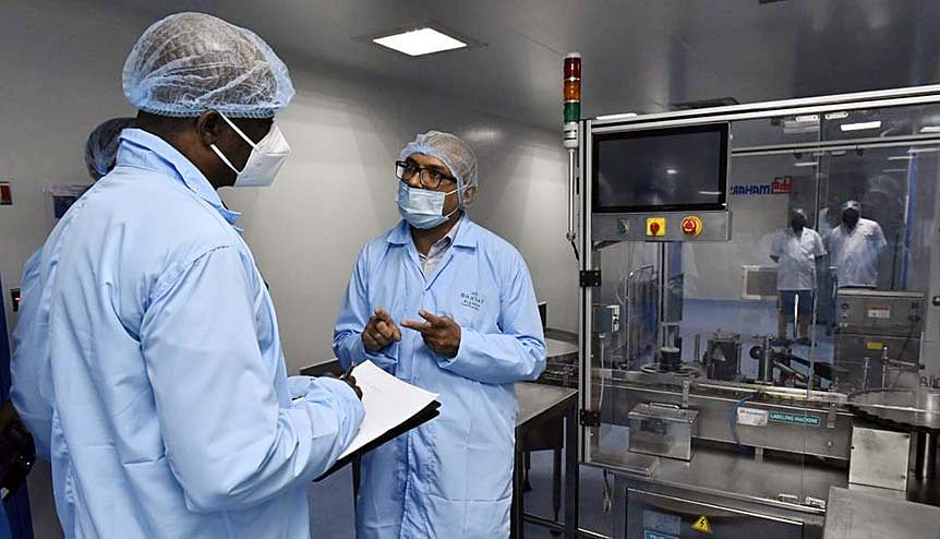 Foreign envoys take a tour of Bharat Biotech facility where the COVID-19 Vaccine, Covaxin is being developed in Hyderabad. India's action to aid countries across the world impacts peace, security, cooperation and prosperity.