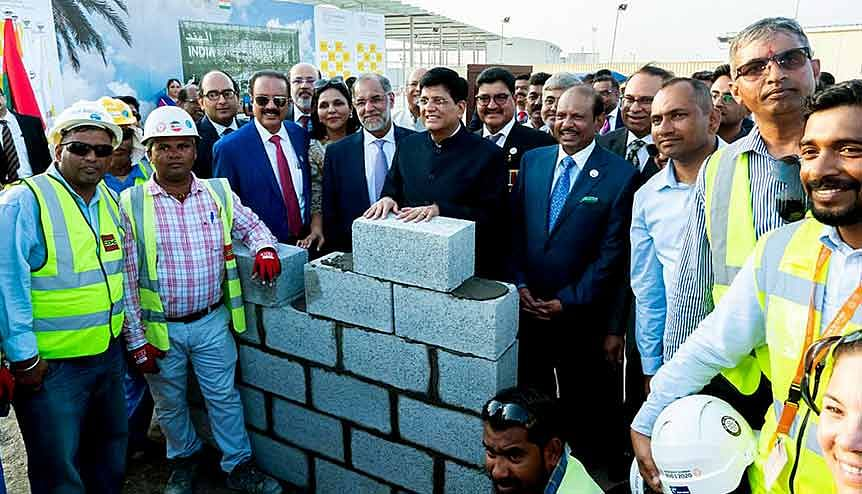 Union Minister for Commerce, Industry and Railways Piyush Goyal during the ceremony of India Pavilion Ground Breaking and Foundation stone laying, at Dubai Expo 2020. The business environment in the country will generate new wealth creators from India who may choose to make the UAE their home away from home.