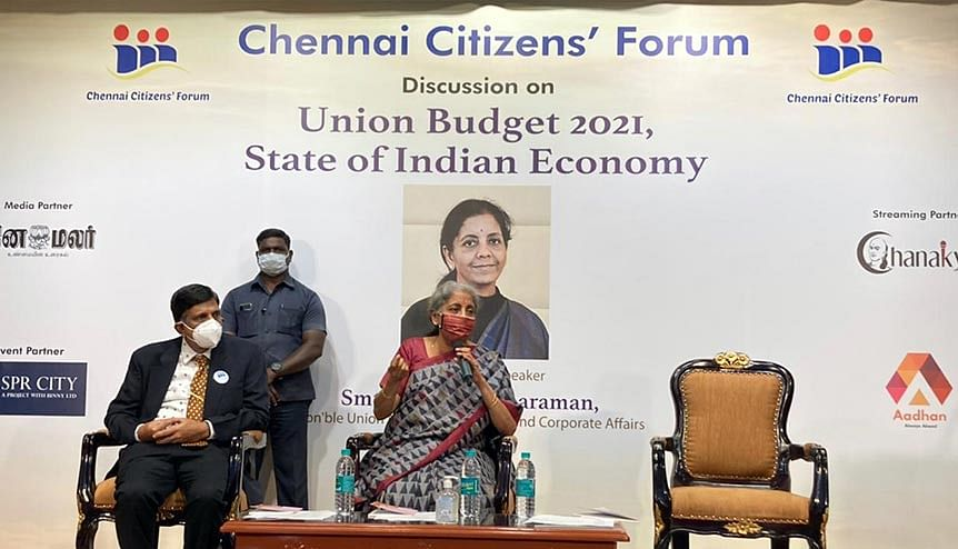 Finance Minister Nirmala Sitharaman interacts with corporate professionals, academicians, experts, and representatives from the social sector at a post-budget discussion. Domestic and foreign investors will have much to cheer about following her budget.