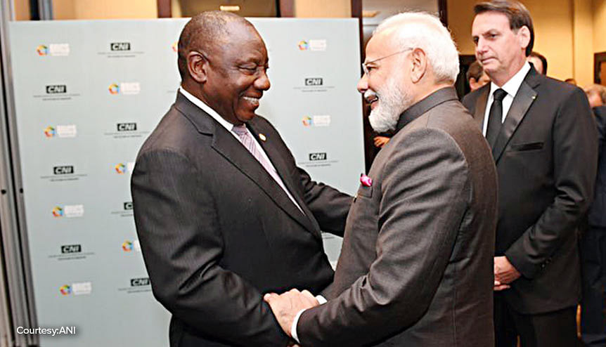 South African President Cyril Ramaphosa and his Brazilian counterpart Jair Bolsonaro have been interacting purposefully with India and the IBSA represents a collaboration of equals unlike BRICS.