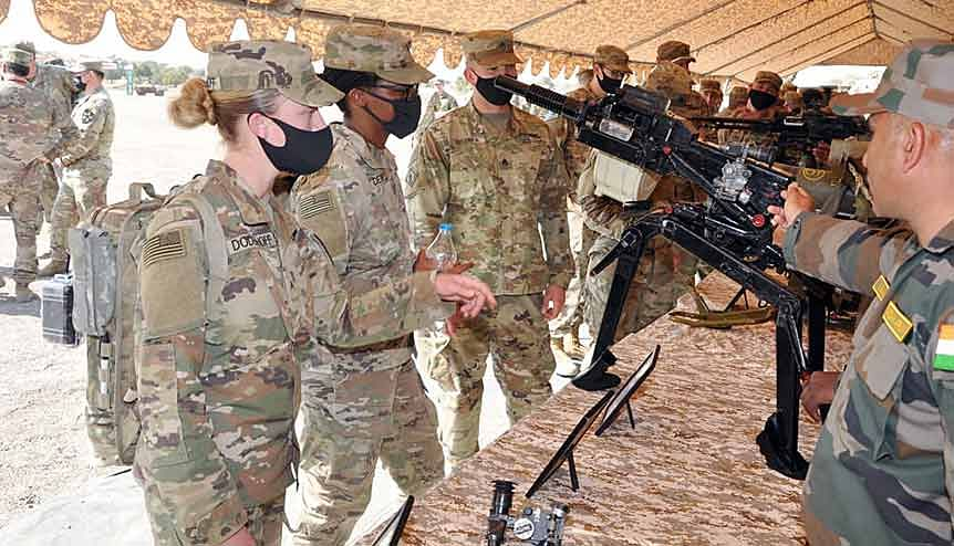India-US joint exercise 'Yudh Abhyas' commenced at Mahajan Field Firing Range on 8 February 2021.Advance Light Helicopter WSI 'RUDRA', MI-17, Chinooks, Stryker Vehicles of US & BMP-II Mechanised Infantry Combat Vehicles of India among those to be utilised in exercise.