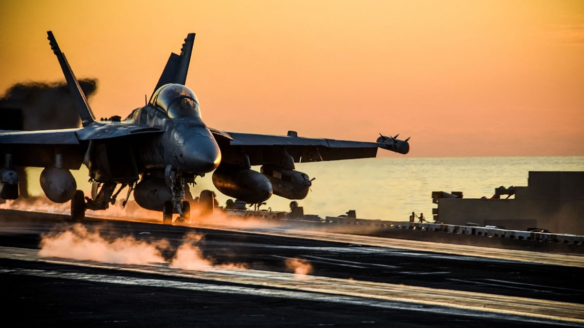 A US fighter jet takes off from the decks of the USS Ronald Reagan in the Indo-Pacific during operation Keen Sword, an exercise with Japan. The activities of the Quad in the Indo-Pacific will have huge bearing on the stability of the region.