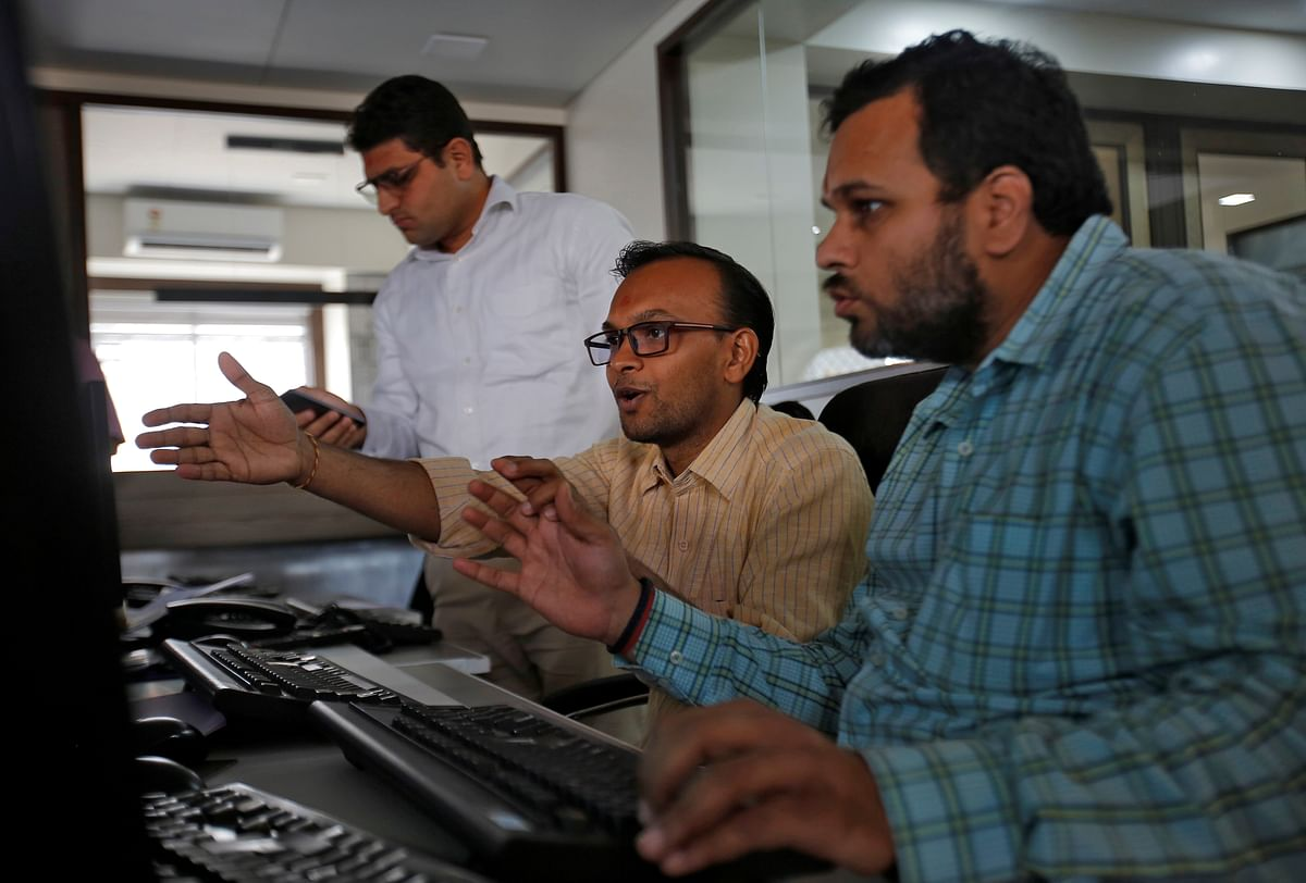 Brokers react positively while trading during the presentation of the federal budget at a stock brokerage firm in Mumbai. FDI equity flows to India rose to $51.47 billion, an increase of 40 per cent compared to $36.77 billion during the April-December 2019 period.