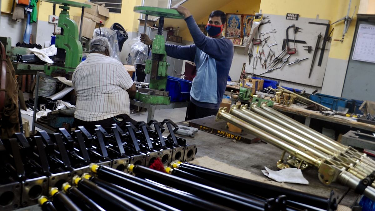 A manufacturing unit in India making machine components. Prime Minister Modi has set the tone for economic progress in the country. The Quad will be used to leverage and obtain economic tie-ups with likeminded states across the Indo-Pacific.