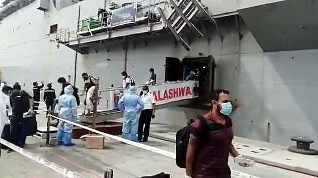The INS Jalashwa docked at Tuticorin port. Attracting investment for modernizing and increasing the economies of scale of ports will be cornerstone to India's manufacturing and trade ambitions.