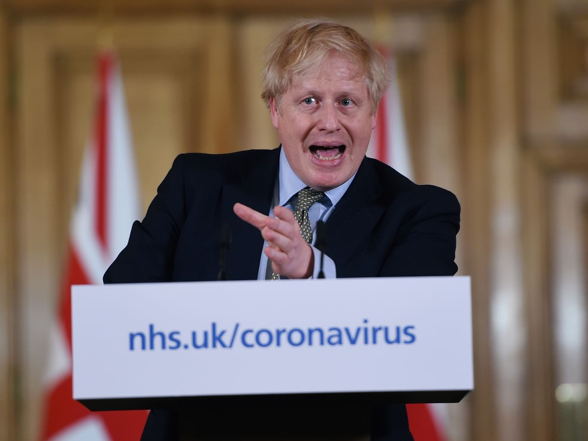 British prime minister Boris Johnson at a news conference. There are politicians in the UK and US who view immigration with suspicion. But this needs to be addressed as both countries seek trade deals with India and the market for Indian talent opens up further elsewhere.