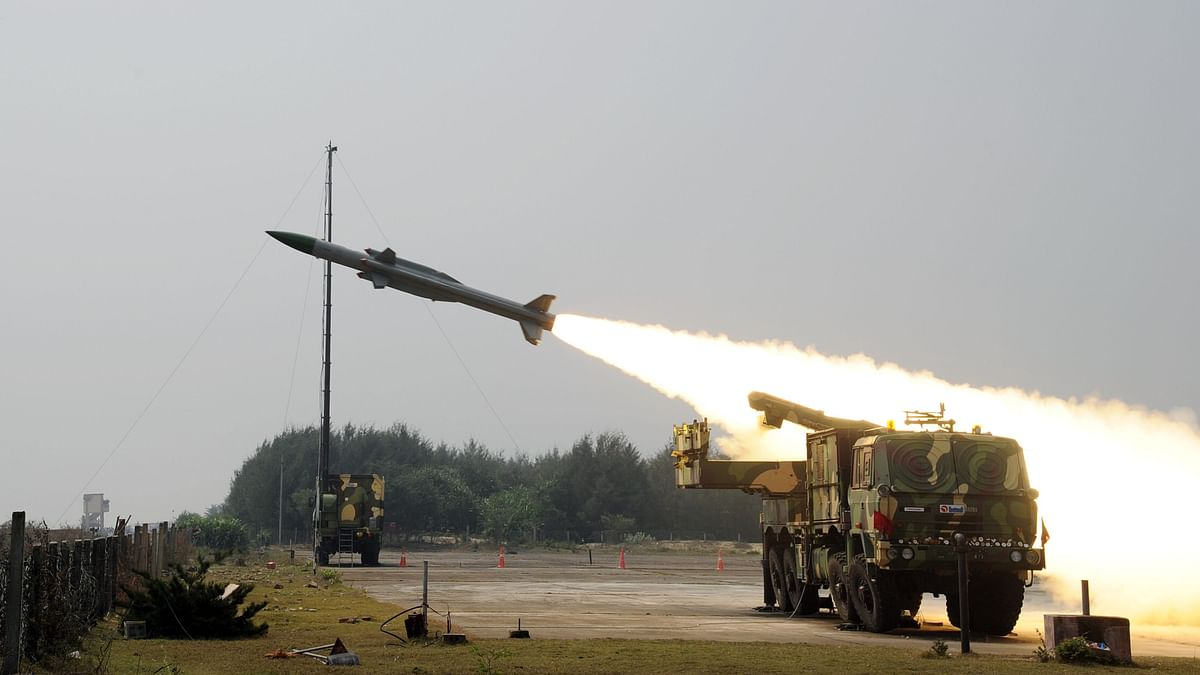 An Akash-Weapon System being tested. India has built up a steady stream of defence supplies to Vietnam.