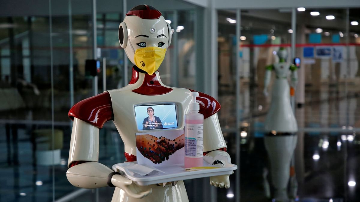 A robot, developed by a start-up firm Asimov Robotics, holds a tray with face masks and sanitizer after the two robots were launched to spread awareness about the coronavirus. The seed stage of investing in a start-up  is the first phase of raising institutional capital. Usually, this round is sourced from professionals, angel investors, either individually or in an angel group.