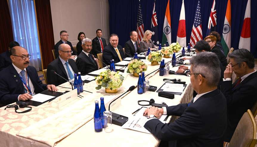 A previous QUAD meeting with foreign ministers present. The Biden administration have had unprecedented engagement with their counterparts from Quad countries.