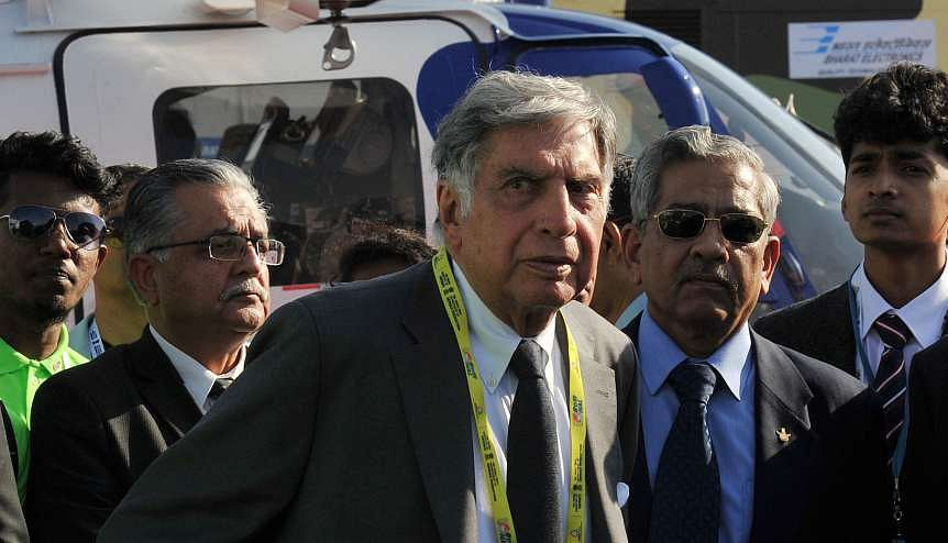 Former Chairman of Tata Groups Ratan Tata AT AN Aero India show. The Tata Group have shown interest in acquiring ailing national carrier Air India.  India's 'great public sector sell-off' has begun in earnest with SCI attracting expressions of interest and the government earmarking other entities to offload as well.