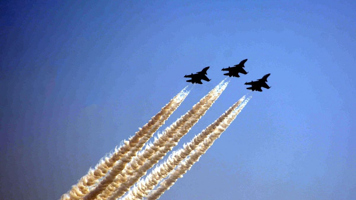 IAF Sukhoi jets undertake manoeuvres. The IAF concluded a high- profile exercise in the UAE which saw participation from five other countries. This outing was designed to promote defence strategic ties between India and the UAE.