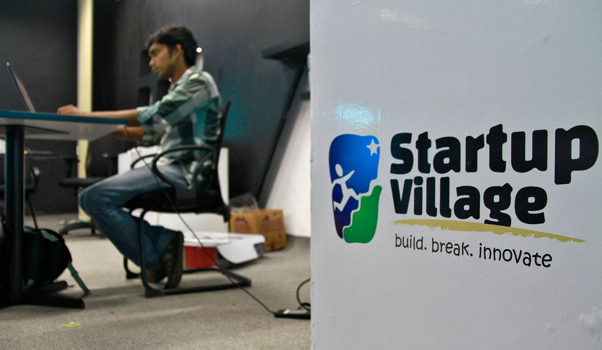 Waiting to be unleashed into the mainstream. An employee works on his laptop at the Start-up Village in Kinfra High Tech Park in the southern Indian city of Kochi.