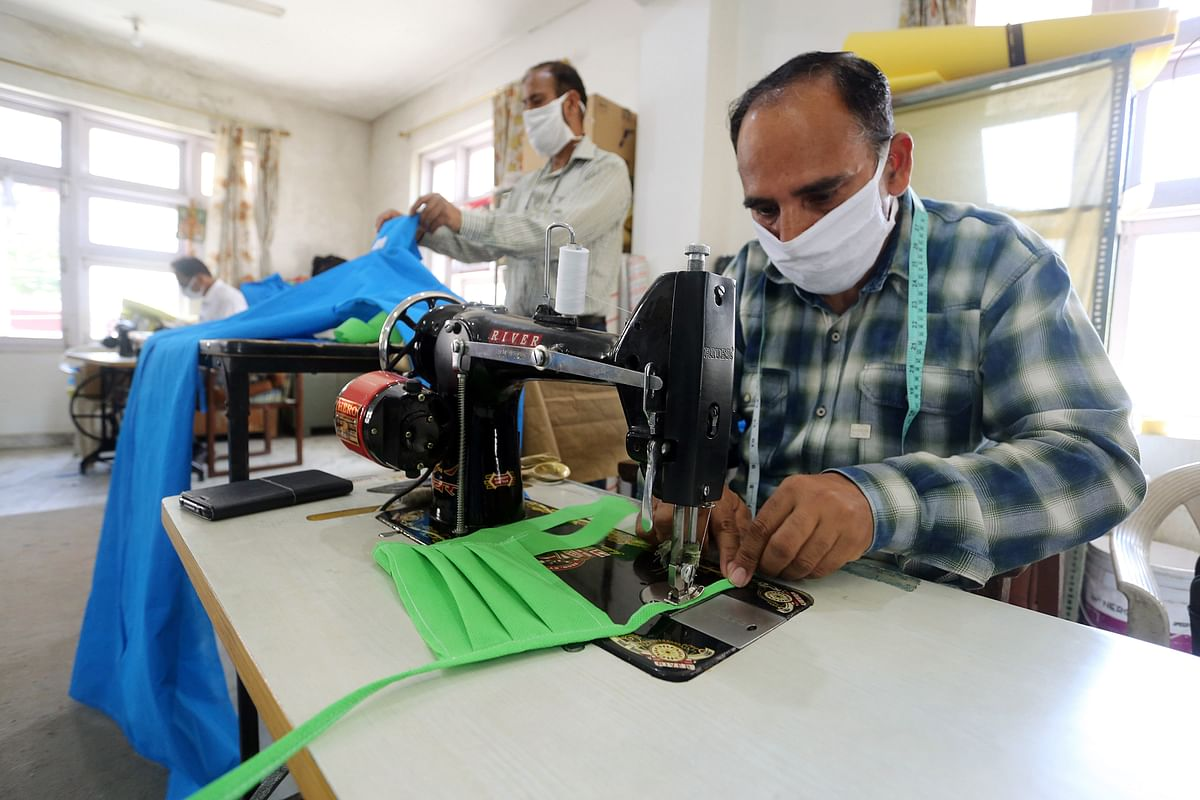 Tailors manufacturing the valuable PPE suits that were so vital during the pandemic. The MSME's attention towards exports could contribute towards the government's dream of a $5 trillion economy by 2025.