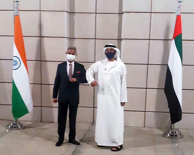External Affairs Minister Dr. S. Jaishankar meet UAE Foreign Minister Sheikh Abdullah bin Zayed bin Sultan Al Nahyan, in Abu Dhabi. There has been an increase in demand for pulses, processed fruits and vegetables and other processed items is seen especially from the Middle East.