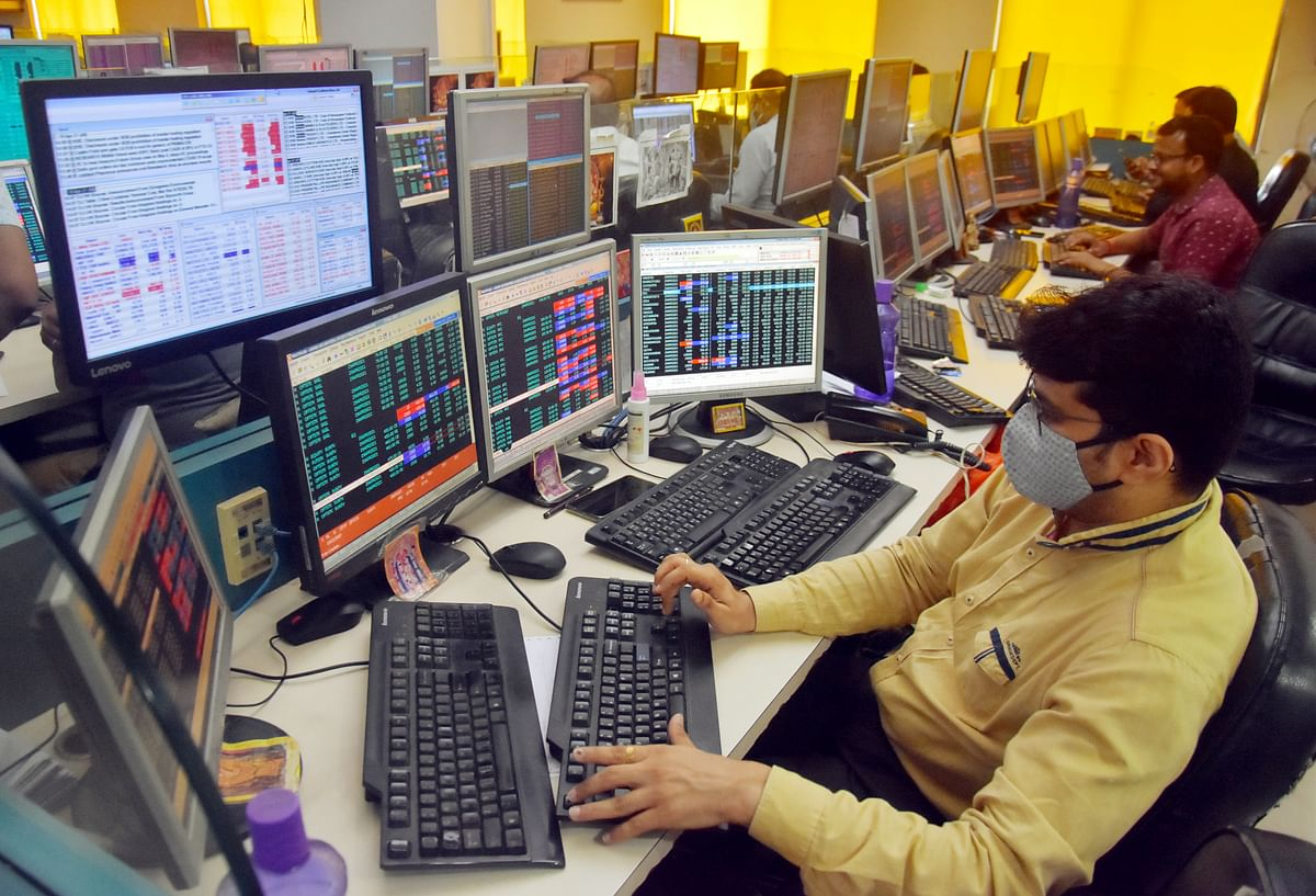 Shareholders react as Sensex and Nifty go down due to the COVID-19 effect in the Share Market. The projected growth rate was left unchanged from earlier forecasts, indicating that the RBI does not expect the current round of Covid-related disruptions to last long.