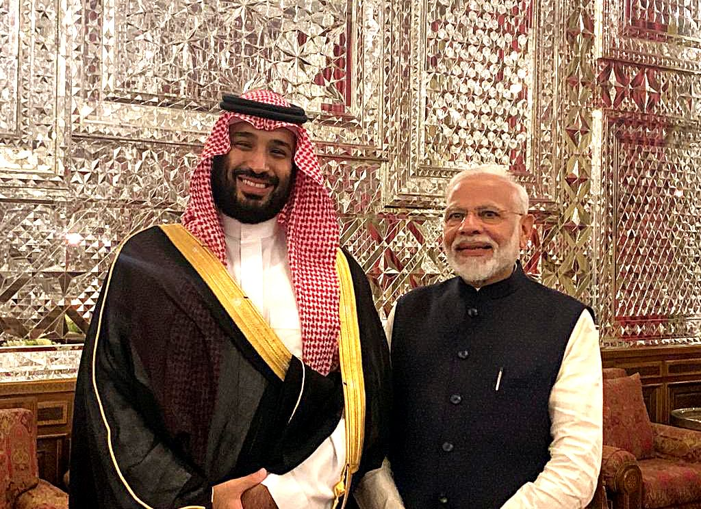 Prime Minister Narendra Modi with Crown Prince of Saudi Arabia, Mohammed bin Salman Al Saud. The Arab state has launched a massive investment drive and India will be engaging with the Saudi Arabian SWF to look at prospective opportunities in India.