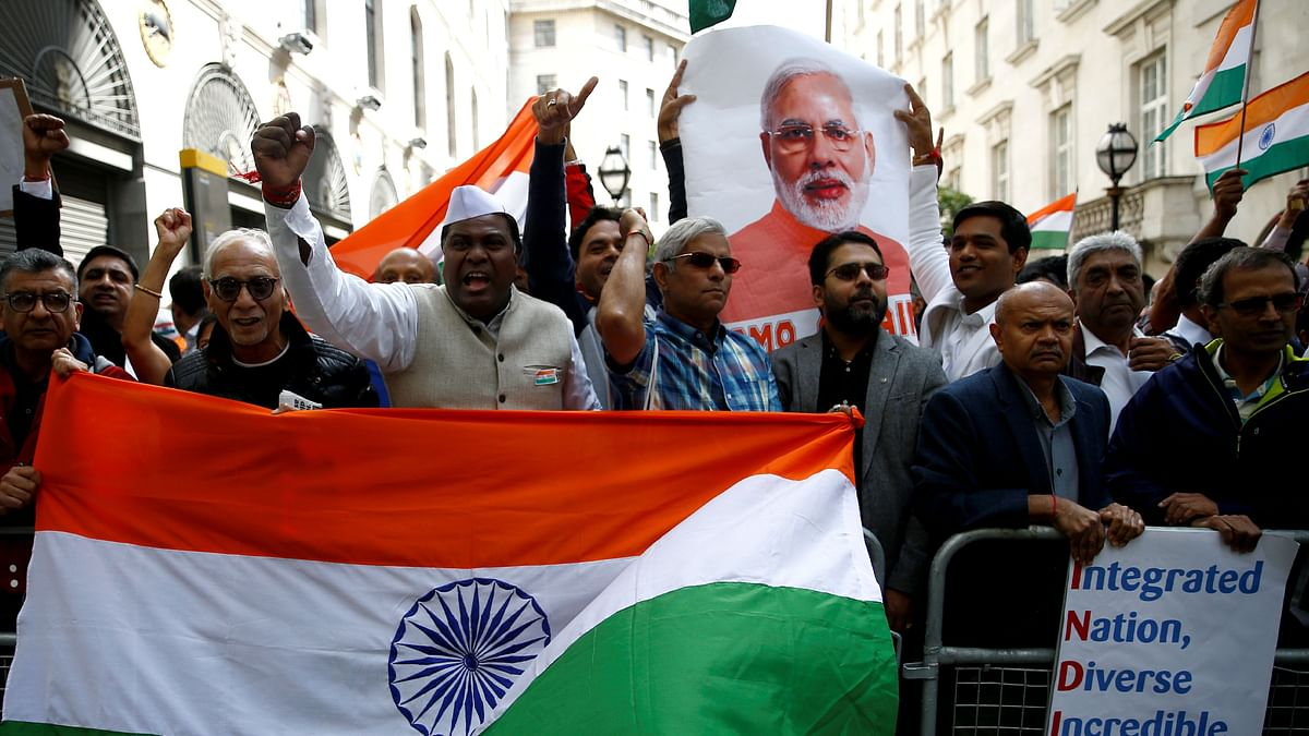 """Indians in the UK welcome Prime minister Modi during his visit in 2019. Johnson's upcoming visit is expected to deliver a """"streamlined and liberalised regime"""" for the flow of people between the two countries."""