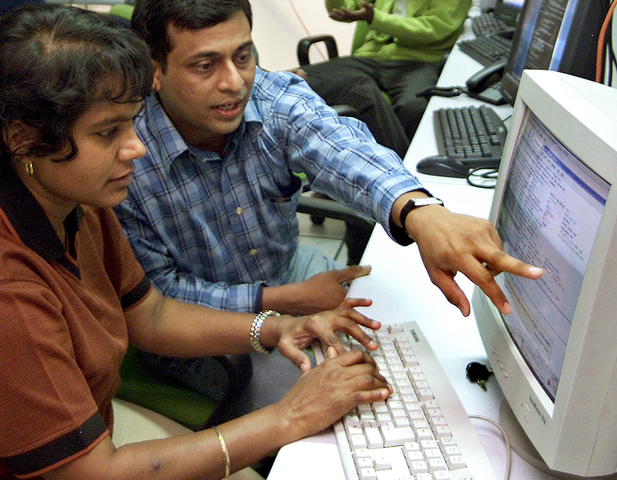 Tech is the new talk of the town. Indian engineers work at a technology start-up company in Bangalore.