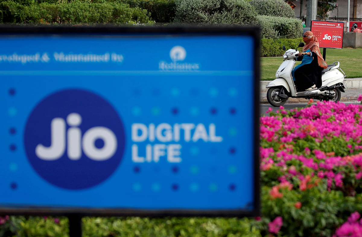 A Reliance-Jio hoarding in Ahmedabad. With evolving tools for audience tracking and measurement on digital platforms, digital ad spends are projected to get a bigger share of the pie in the coming years.