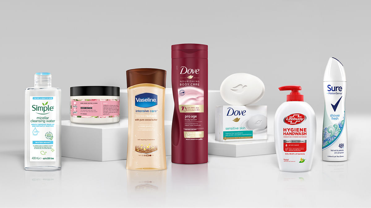 A 2021 handout illustration shows Unilever beauty products without the word 'normal' on its product packaging. The value of digital expenditure in advertising was estimated to grow exponentially by 2023, with advertising in the market far exceeding the value of subscriptions.