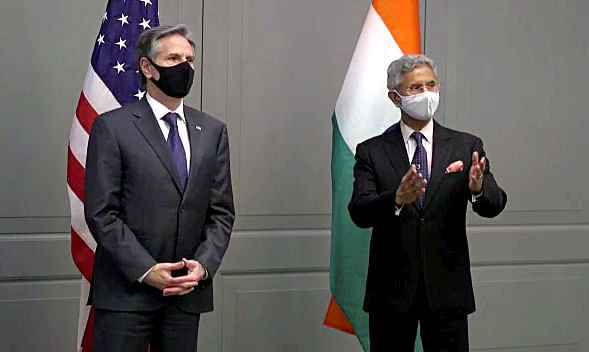 Dr. S Jaishankar and Antony Blinken addresss the media. The two officials covered a lot of ground on areas of mutual geo-political and geo-strategic interest, including the activities of China.