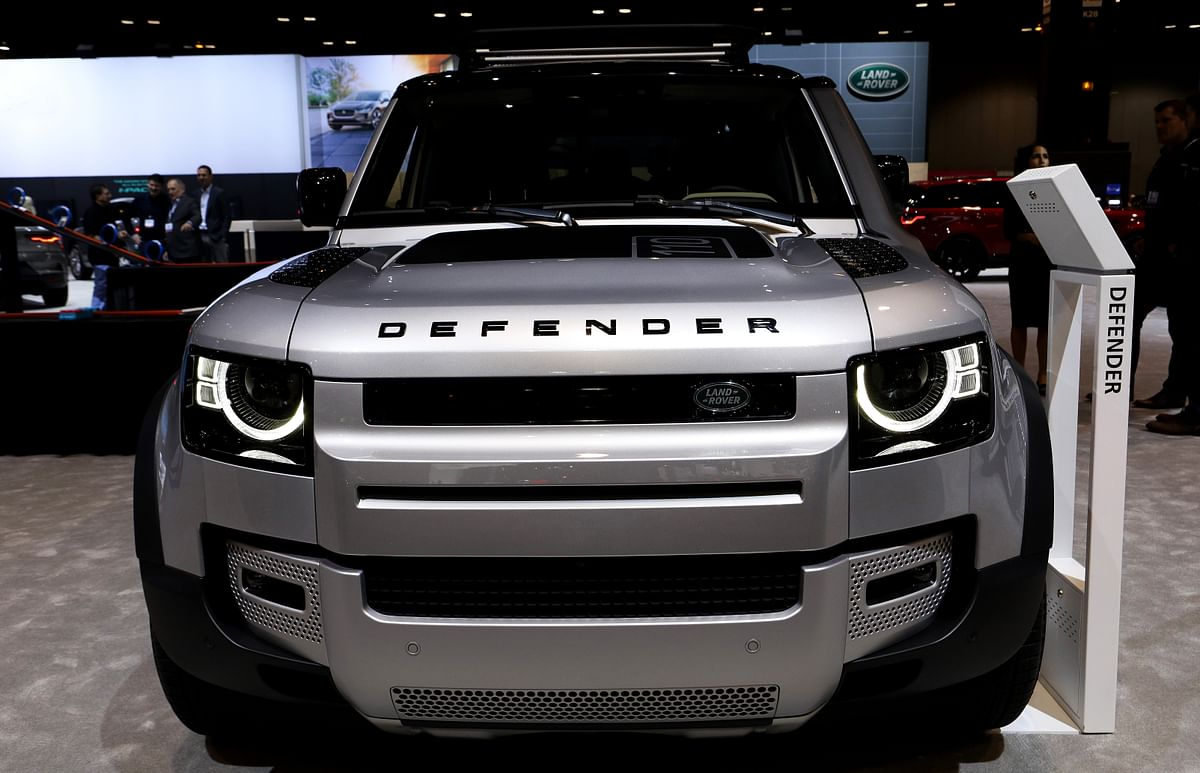 The Land Rover Defender on display at the 112th Annual Chicago Auto Show at McCormick Place in Chicago last year. It was credited with contributing significantly to retail sales.