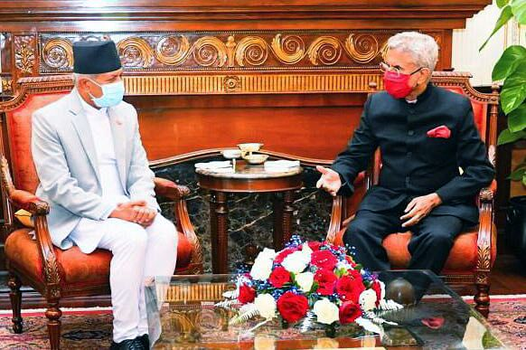 India's external affairs minister Dr. S Jaishankar with his Nepali counterpart Pradeep Kumar Gyawali. Both countries are waiting to address a log-jam of agreements which have been halted due to the pandemic and diplomatic spats.