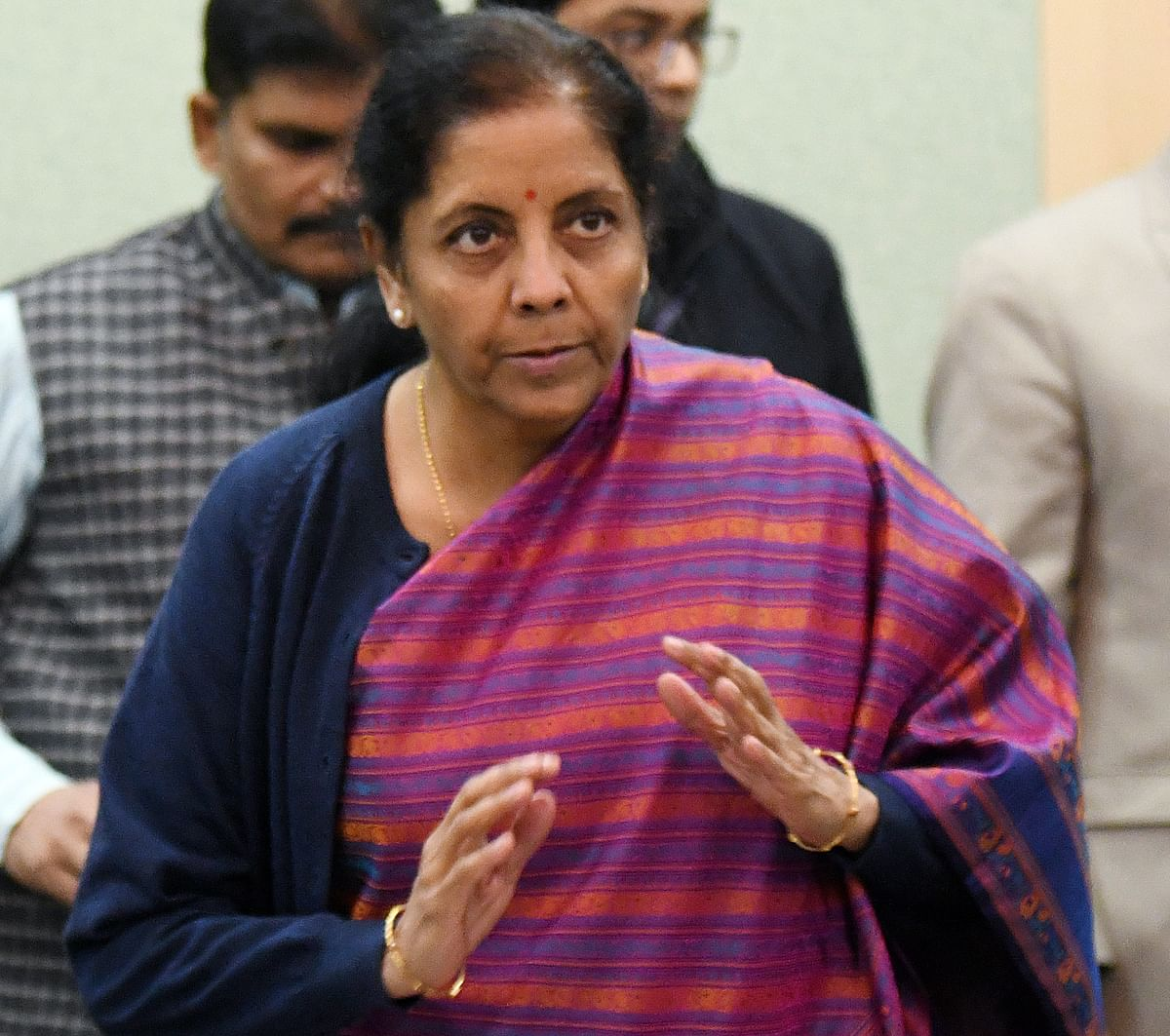 Finance Minister Nirmala Sitharaman after a meeting with stakeholders' groups from New Economy, start-ups Fintech and Digital ahead of her 2020-2021 annual budget announcement. The pandemic has fast-tracked the evolution of sectors such as e-commerce, edtech, healthtech and fintech.
