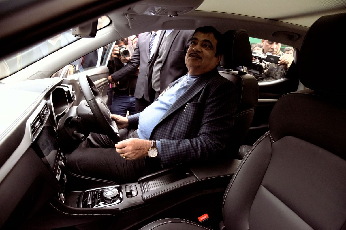 Union Minister for Road Transport & Highways and Micro, Small & Medium Enterprises, Nitin Gadkari launches India's First Pure Electric Internet SUV ZS EV of MG Motor India in 2019. About half of India's 31 states have drafted EV incentive policies with varying degrees of progress.