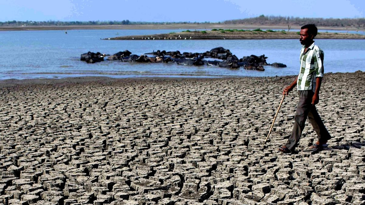 A drought affected parched bed on the Vena dam in Nagpur. The government will find new and alternative ways to finance the transition and incentivize private sector participation to scale up investments for a sustainable and transformational impact.