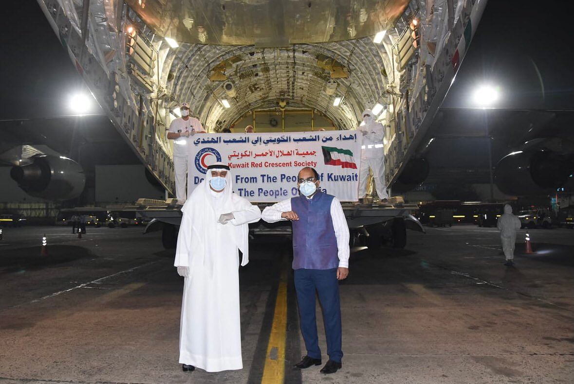 A shipment of 282 oxygen cylinders, 60 oxygen concentrators and other medical supplies comes into India from Kuwait. Several GCC nations have rushed supplies of liquid medical oxygen (LMO) by the shiploads to help India in its battle with the surge in COVID-19.