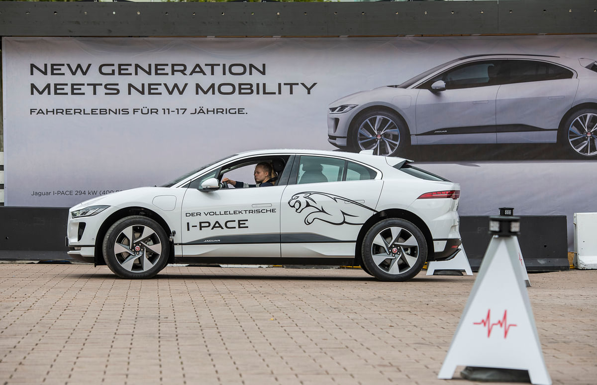 Twelve of the company's models now have an electrified option, contributing to 62 per cent of sales, including eight plug-in hybrids, 11 mild hybrids and the all-electric Jaguar I-PACE (seen in picture).