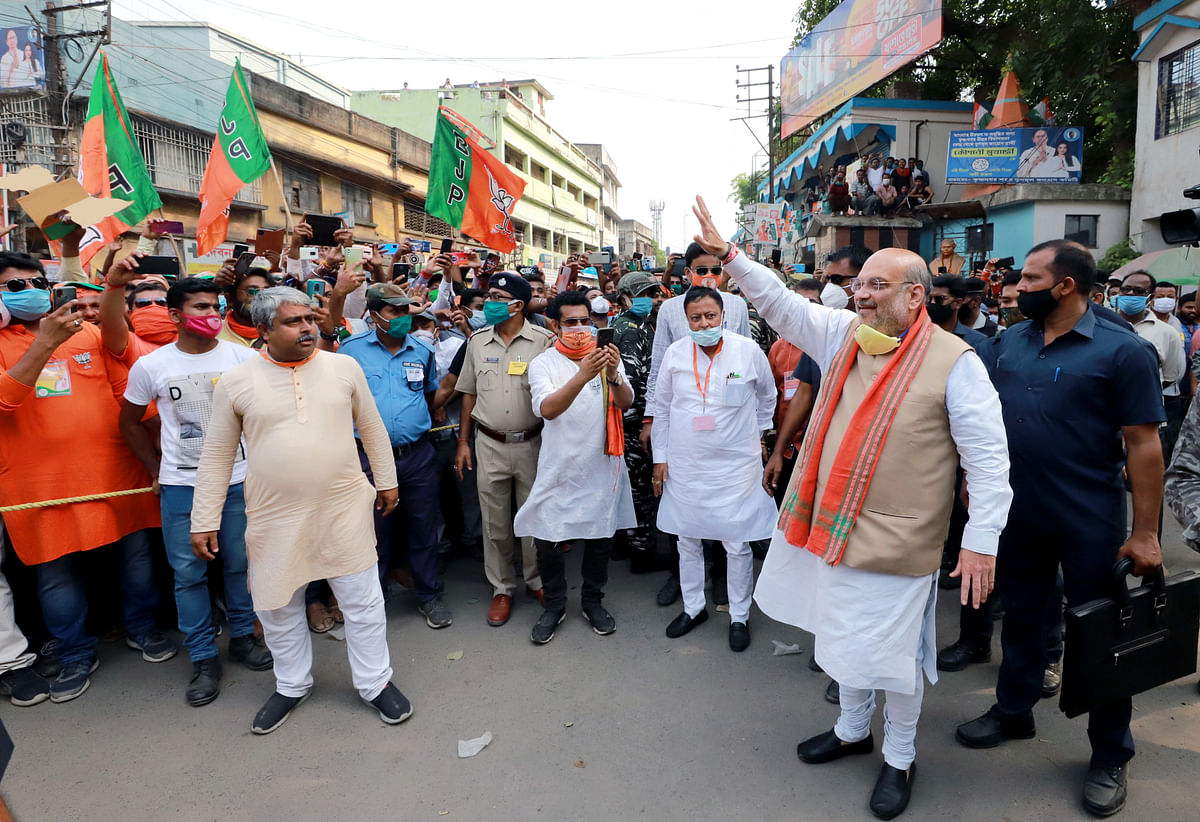 Union home minister Amit Shah during an election campaign rally. The results of these elections cannot be seen as a negation of prime minister Modi's governance record.