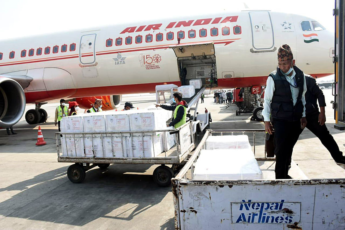 India had sent Covid-19 vaccine doses to Nepal in February as a goodwill gesture.