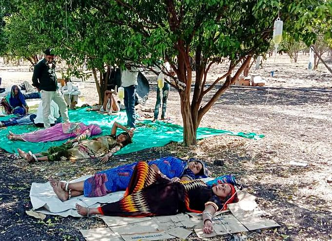 COVID-19 patients getting treatment at an orange farm after a shortage of space in hospital ward. Prime minister Narendra Modi's scheme of Ayushman Bharat was designed to support the country's healthcare sector.